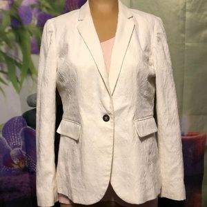 Apt 9 size 12 white womens jacket textured